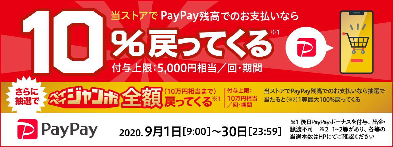 PayPay残高でのお支払いで10%相当還元&抽選で更に全額還ってくる