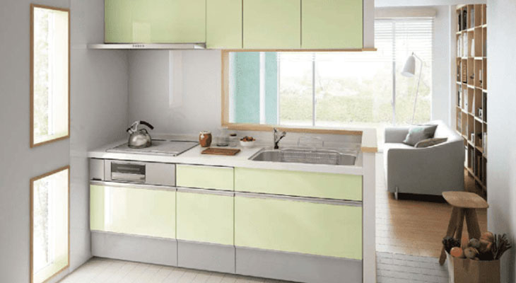 セミオープンキッチンの画像
