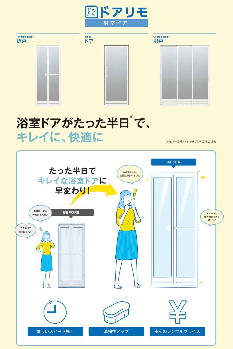 浴室ドア かんたんドアリモ YKKap